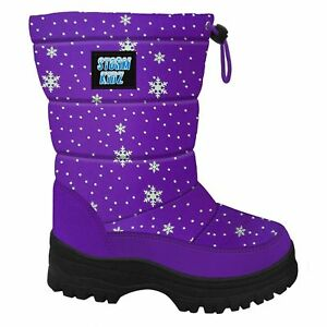 1db193276 Details about Storm Kidz Kids Snow Boots Cold Weather Snow Boots Puffy  Toddler-Big Kid