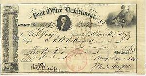 Bureau de Poste Dept Draft - Carreaux May 21- 1854 Newark- N.j. #7953 Rare rQuhUnRZ-09152455-221721055