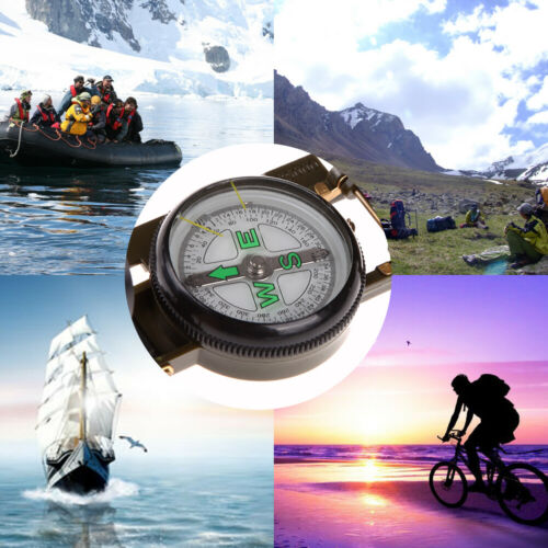 Portable Folding Lens Compass American Military Fashion Multifunction New