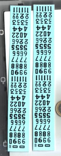 decals decalcomanie deco pour vieux dessin chiffres pour portiere 1//43