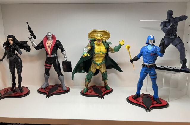 GI Joe PCS Collectibles PVC Statues Cobra Commander, Destro, Baroness