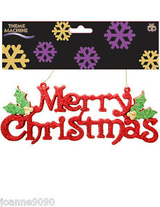 Large-Red-Hanging-Glitter-Merry-Christmas-Decoration-Hanger-Shop-Display-Sign-BN