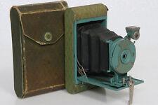 Kodak Petite Camera, antique folding - aqua green color with case