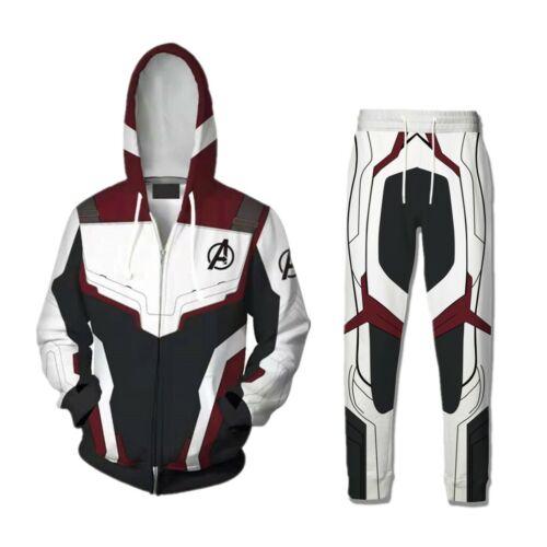Avengers 4 Endgame 3D Print Hoodies Advanced Tech Sweatshirt Zipper Jacket Coat