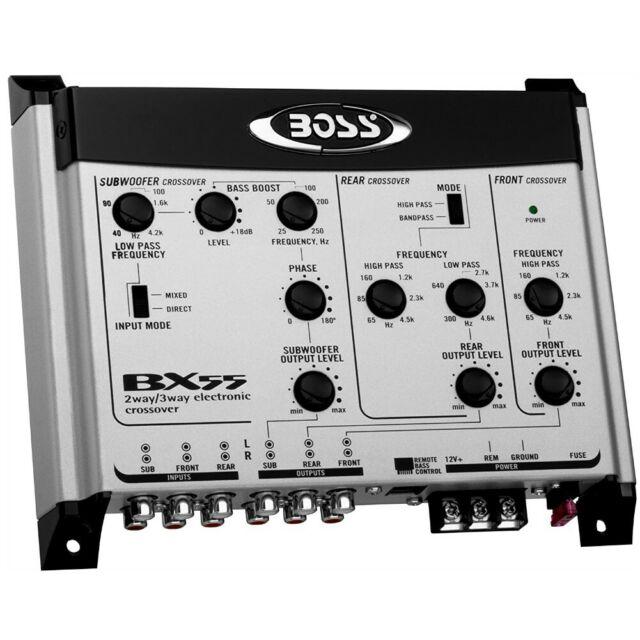 1 BOSS AUDIO SYSTEMS BX55 equalizzatore 2/3 vie regolatore remoto sub incluso