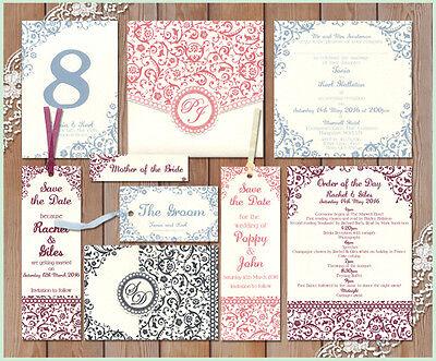 * Schema Decorativo Barocco Campione Matrimonio Cancelleria Invito Invitare Alla Moda- Eccellente Nell'Effetto Cuscino