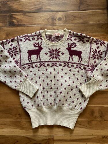 Vintage 40s Iconic Jantzen Wool Sweater Reindeer S