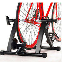 Magnetic Exercise Bike Stand Stationary Bicycle Roller Converter Stand Black