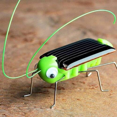 Baby Kids Solar Power Energy Insect Grasshopper Solar Novelty Funny Toys Cricket
