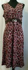 Clothing Company by Notations Brown Dress With Circle Designs - Size Large - VGC