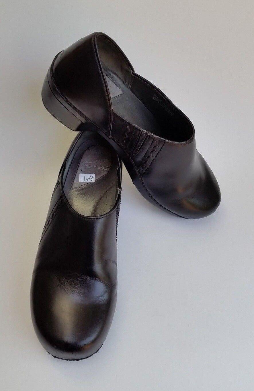 Dansko zapatos albarcas Negro Cuero Para Mujeres Talla Talla Talla 40 9.5-10  mejor moda