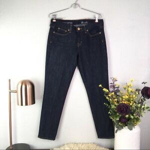 J-Crew-Women-Size-30-Toothpick-Ankle-Skinny-Jeans-Dark-Wash-Mid-Rise