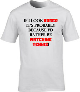 e80091f5cb Tennis Mens T-Shirt I'd Rather Be Watching Funny Gift Idea Player ...