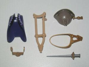 Playmobil-Lot-Accessoire-Personnage-Pirate-Chapeau-Rodingotte-Sabre-Bequille