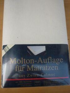 Molton-Auflage-fuer-Matratzen-Zwirn-Calmuc-100-Baumwolle-90-100-x-200-cm-Neu-OVP