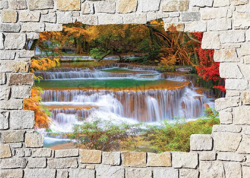 Aufkleber Wand Schein Auge Fluss Ref 8505