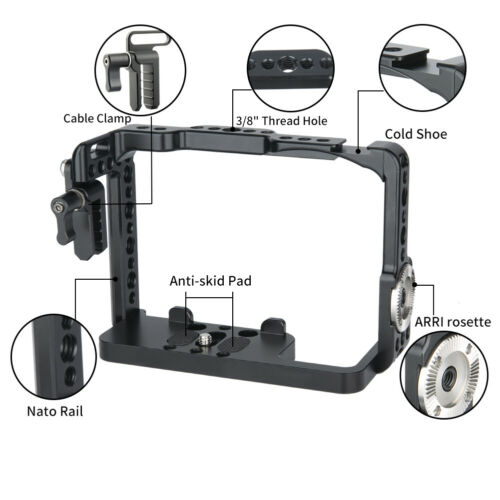 NICEYRIG Camera Cage for Sony A9II A7III A9 A7RIII A7RII A7SII with Cable Clamp