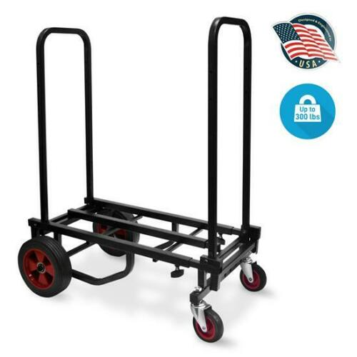 Pyle Heavy Duty Compact Folding Adjustable Hand Truck//Dolly//Platform Cart