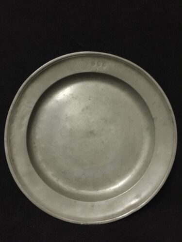 18th Century Pewter Charger Dated 1749