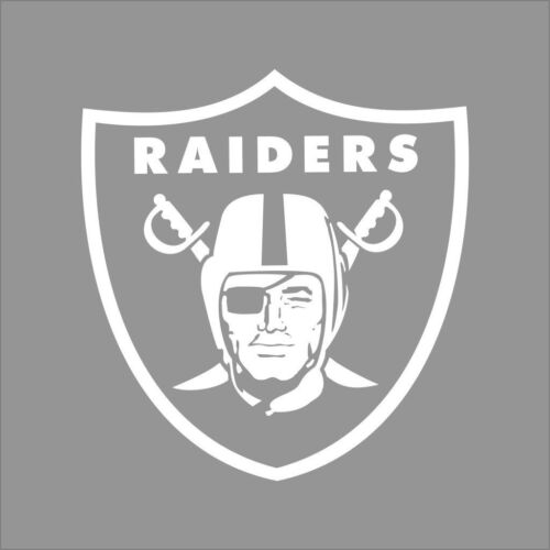 Raiders NFL Team Logo Color Vinyl Decal Sticker Car Window Wall