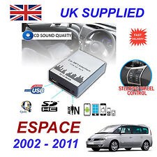 Renault ESPACE MP3 SD USB CD AUX Input Audio Adapter Digital CD Changer Module