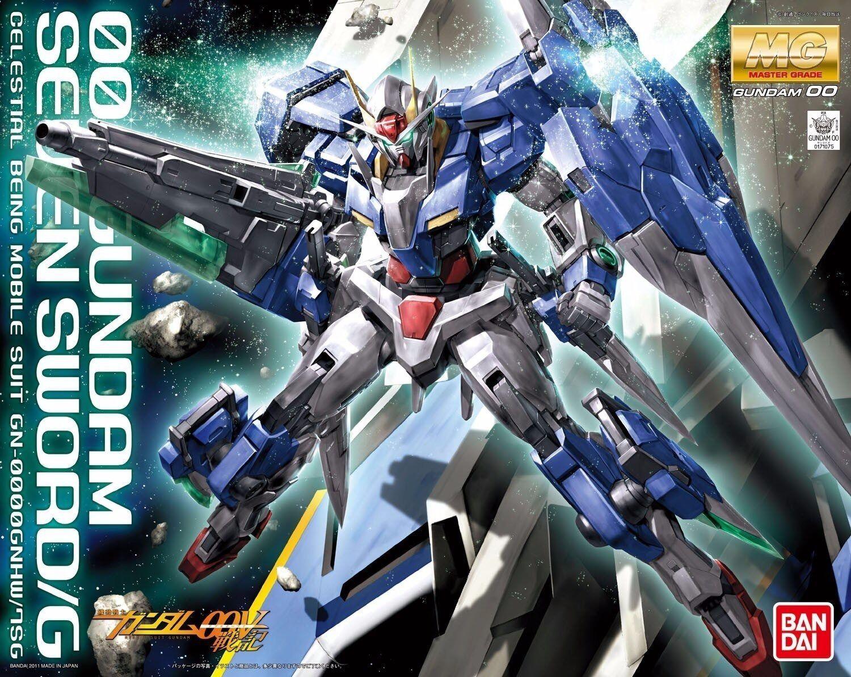 Bandai MG 1 100 00 Gundam Seven Schwert G Kunststoff Modell Bausatz 00 Aus
