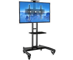 Standfuss Mobil Fahrbar Tv Stander Trolley 32 65 Zoll Kamera Av Ablagen Ava1500b Ebay