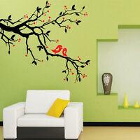New Removable Vinyl Love Heart Tree Bird Wall Decal Sticker Art Mural Home Decor