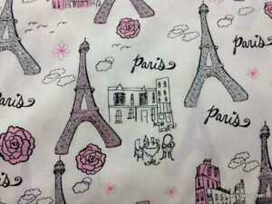 Paris-France-Pink-amp-Gray-Glitter-Eiffel-Tower-Handcrafted-Curtain-Valance-a1-1