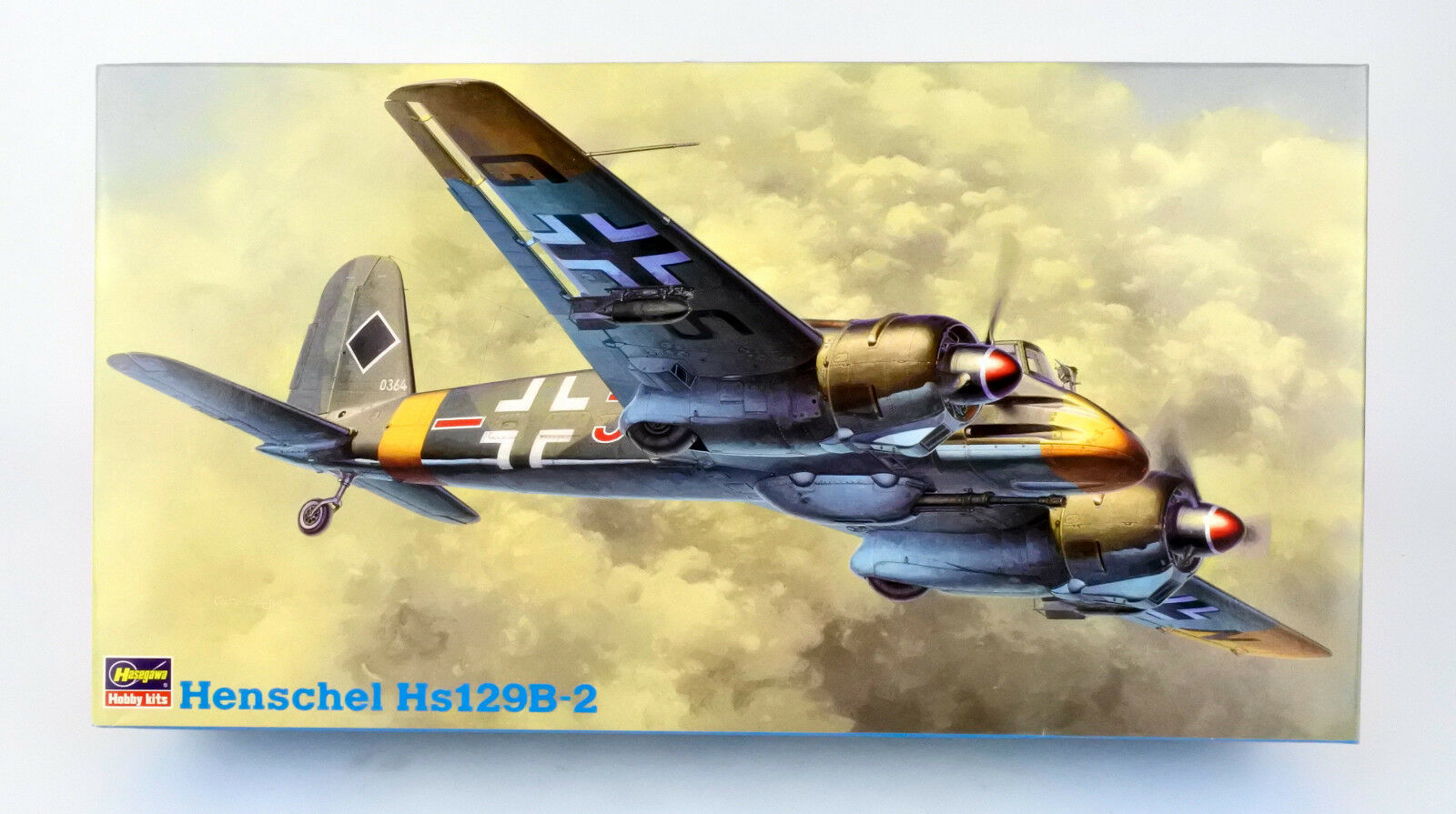 HASEGAWA 1 48 09071 GERMAN WWII HENSCHEL HS129B-2 JT71 MODEL KIT