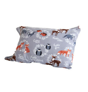 XMAS-HOLIDAY-FRIEND-OWL-FOX-DEER-RACCOON-FLEECE-SHEET-SET-FLAT-FITTED-PILLOWCASE