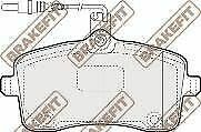 Brakefit Brake Pad Set disc brake PD3105