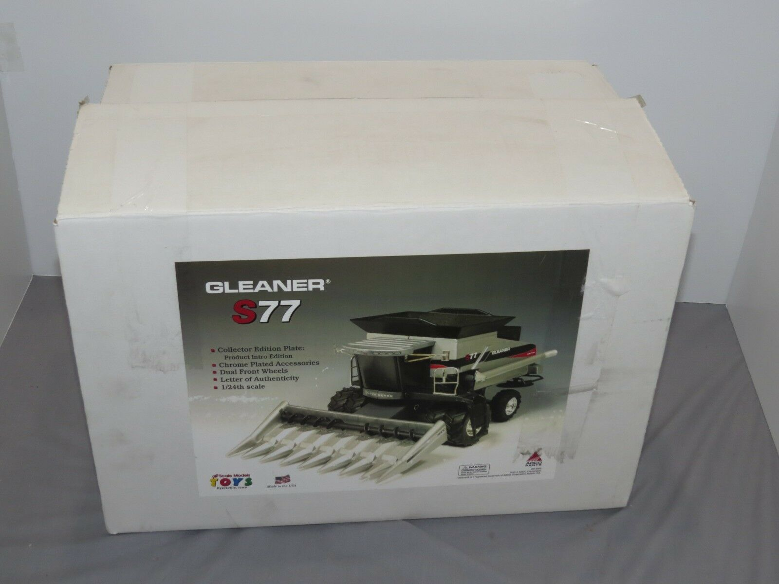 Vintage GLEANER S77 Launch Edition 1 24 Combine Combine Combine New in Box VERY RARE  MINT AGCO 642