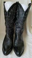 Dan Post Mens Black Leather Pointed Toe Western Cowboy Boots Size 9 EW