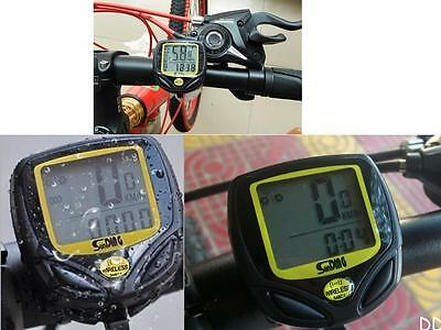 DI US Bike Bicycle Cycling Wireless LCD Computer Odometer Speedometer Waterproof