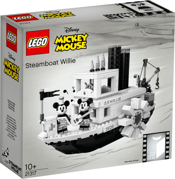 LEGO 21317 Steamboat Willie (Mickey Mouse)  RARE  24   NEW, Factory sealed box