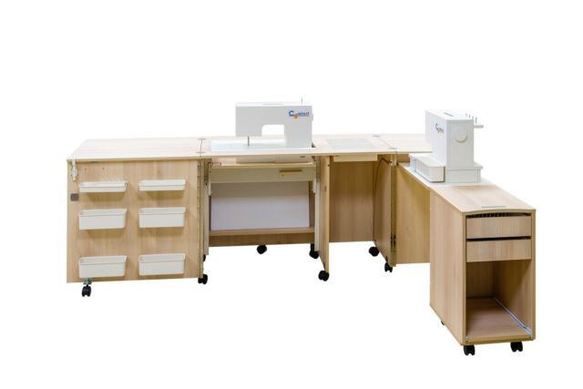 Portable Sewing Machine Table.Comfort 4 Sewing Machine Cabinet Overlock Desk Hobby Storage Patchwork Table