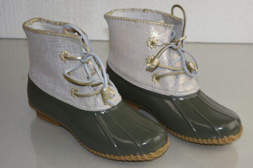 brillanti pelle in pioggia di Scarpe caviglia oro stivali verde color Jack Nuovi Rogers 11 da oliva Chloe alla vU6WPq