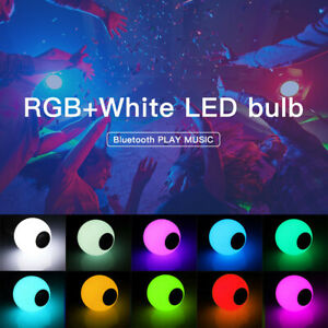 Smart-LED-RGB-Bulb-Bluetooth-Speaker-12W-Music-Light-Remote-Bulit-in-battery-AA