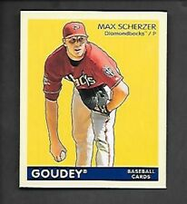 MAX SCHERZER 2009 GOUDEY BLUE BACK MINI #2   FREE COMBINED S/H