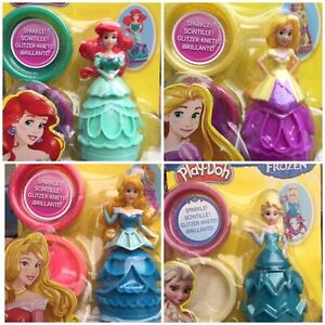 Play-doh-Disney-Princess-Mix-amp-Match-Figure-Sparkle-Playdoh-Elsa-Rapunzel-Ariel