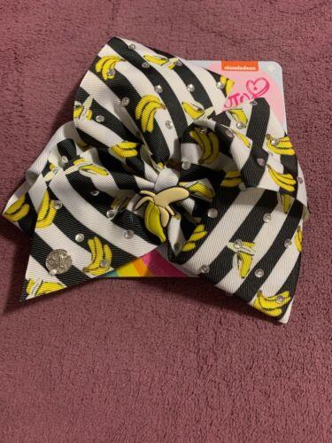 NWT JOJO SIWA Black /& White Scented Banana Large Hair Bow RARE