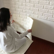 3D Brick Waterproof Wall Sticker Self-adhesive Panel Decal Wall Sticker Embossed
