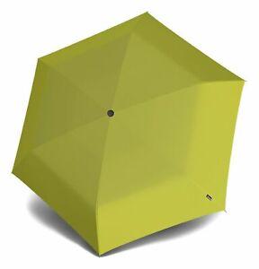 Knirps-TS-010-Slim-Small-Manual-Regenschirm-Lemon-Neu