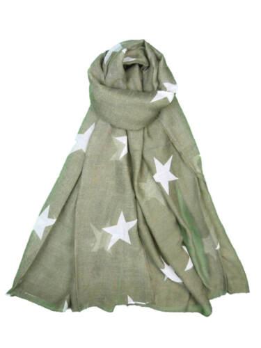 Star Print Scarf Stars Fashion Ladies OverSize Big Wrap Soft Warm