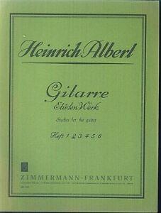 Gitarre-Etueden-Werk-von-Heinrich-Albert-Heft-2