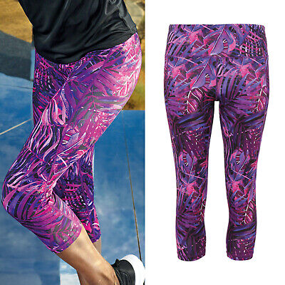 Herrlich Tridri Women's Performance 3/4 Length Jungle Leggings (tr303) - Gym Activewear