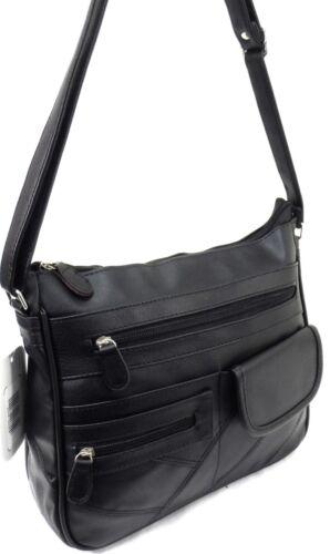 Womens Ladies Black PU Leather Cross body Bag Long Shoulder Strap Handbag uk