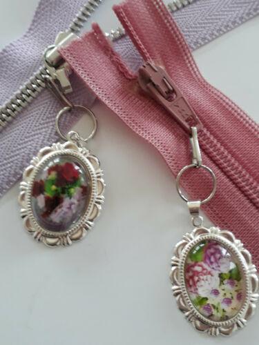 Jardín de flores colgantes cremallera joyas zieher ayudante plata floral