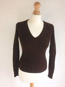 J-Crew-dark-brown-jumper-size-XS-marino-wool-cashmere-angora-mix-long-sleeves
